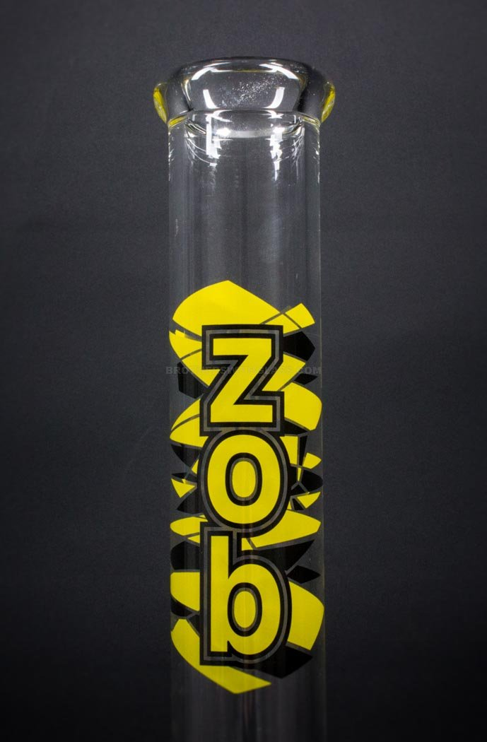 Zob Glass 18 inch Fixed Showerhead Beaker Bong