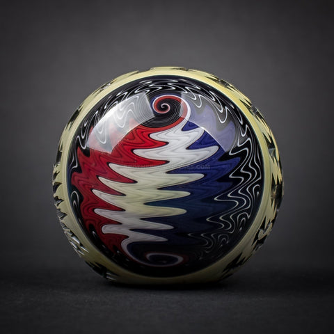 Liberty 503 Grateful Dead Deep Carve Wig Wag Hand Pipe - Style Two