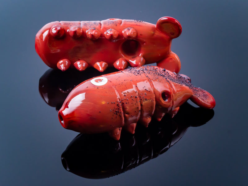 Blowfish Glassworks Sculpted Lobster Tail Hand Pipe