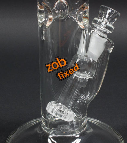 Zob Glass 18 inch Fixed Flat Disc Straight Bong