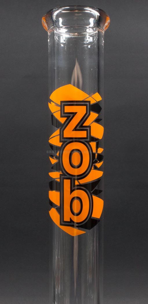 Zob Glass 14 inch Fixed Flat Disc Straight Bong