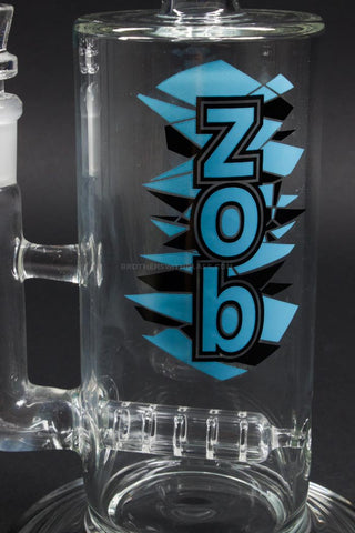 Zob Glass 75mm Wubbler Bent Neck Straight Inline Bong