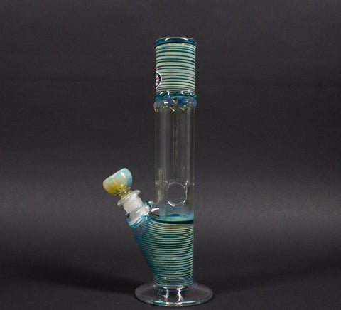 Mary Jane's Glass Color Coiled And Fumed Straight Bong