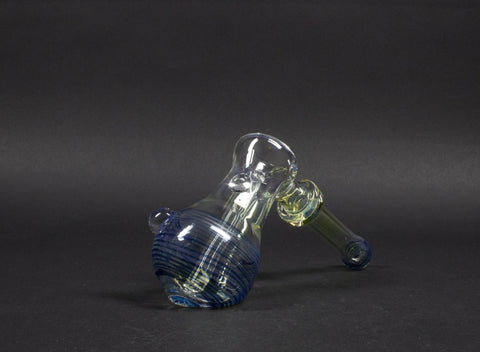 T Hales Color Coil And Fumed Hammer Bubbler