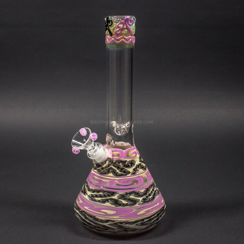 HVY Glass Color Coiled Beaker Bong - Pink