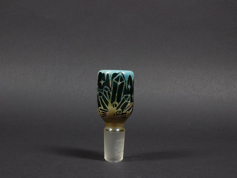 Liberty 503 18mm Tall Fumed and Sandblasted Slide - Bat Life