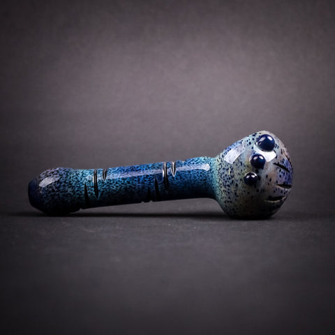 Mountain Jam Glass Cut And Grind Pattern Over Frit Hand Pipe