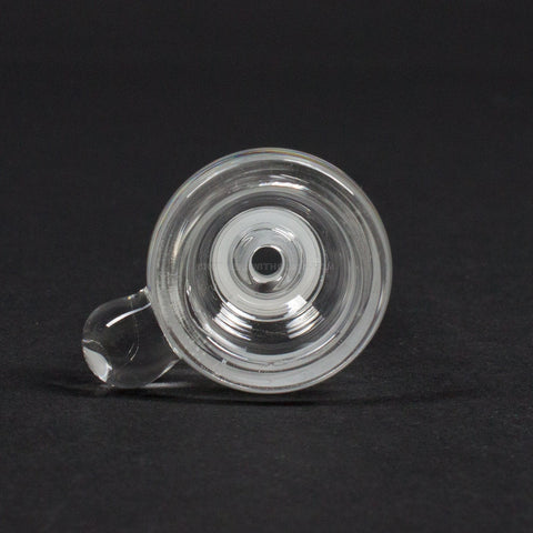 No Label Glass Clear Slide With Marble