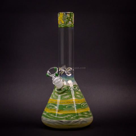 HVY Glass Color Coiled Beaker Bong - Oregon Ducks