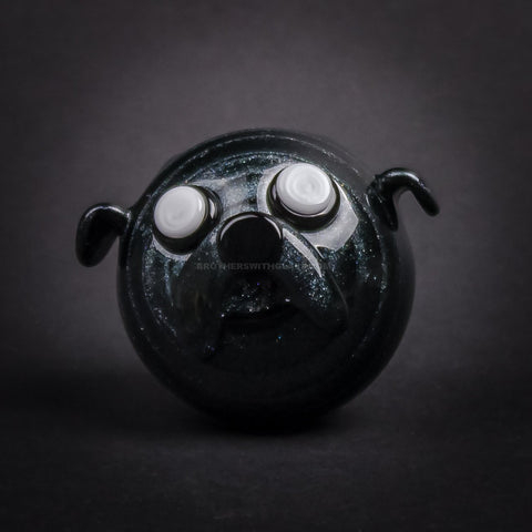 Chameleon Glass Jake The Dog Pendant - Steel Wool