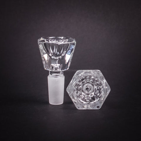 14mm Faceted Glass Slide