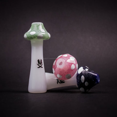 Mathematix Glass Mushroom Chillum Hand Pipe