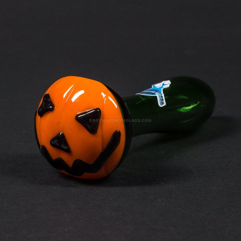 Chameleon Glass Jack O Latern Hand Pipe