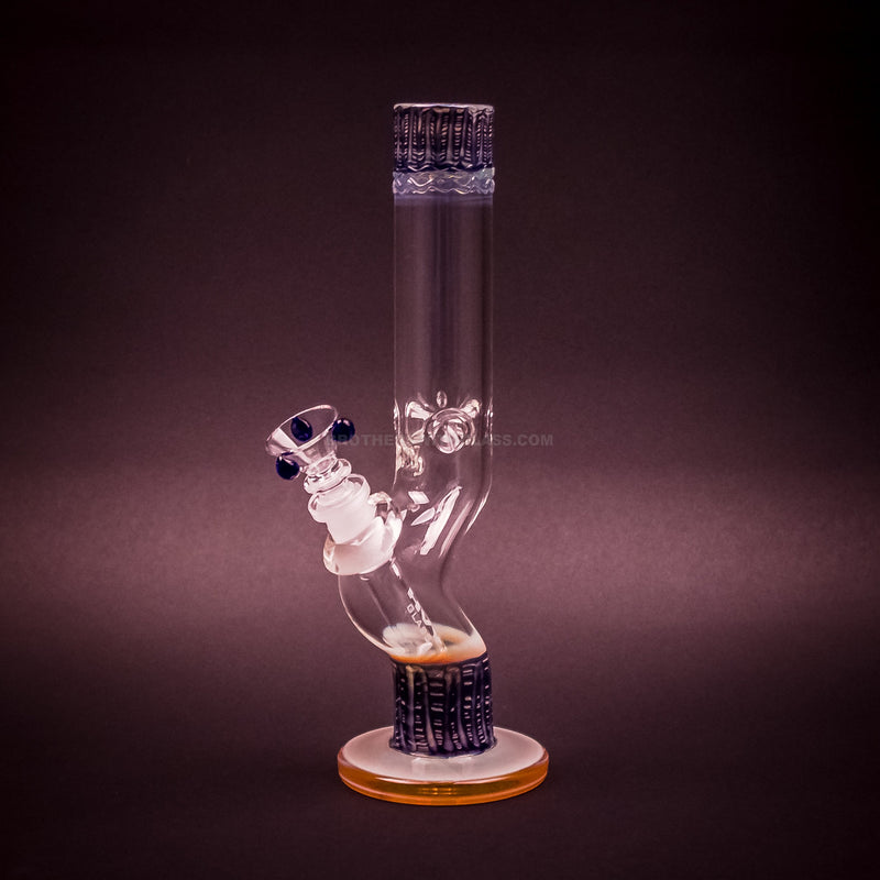 HVY Glass Curved Color Raked Bong - Blue