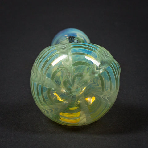 Chameleon Glass Ashcatcher With Rake Hand Pipe - Green