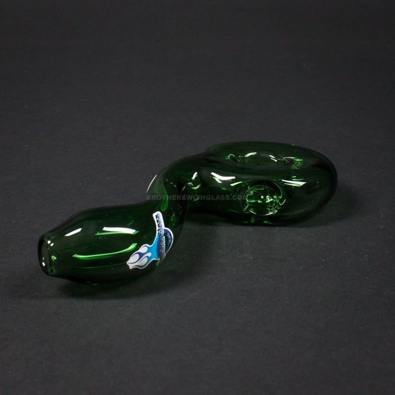 Chameleon Glass Finger Binger Hand Pipe - Green
