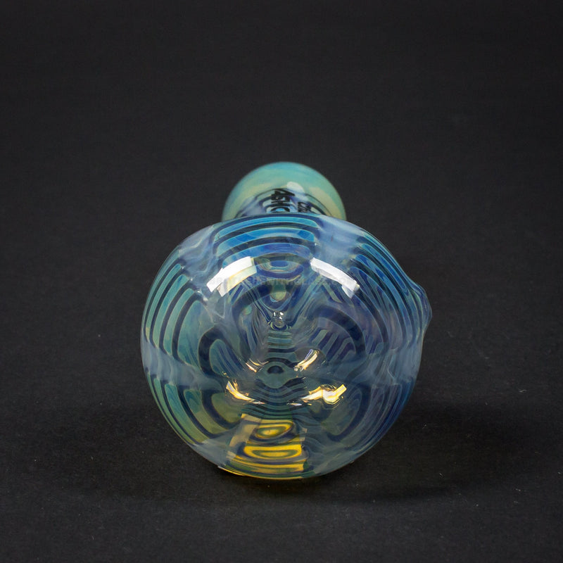 Chameleon Glass Ash Catcher With Rake Hand Pipe - Blue