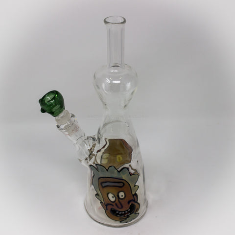 EA Glass Rick and Morty Disc Flip Bong