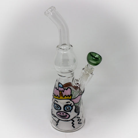 EA Glass Tinkles And Ghost Disc Flip Banger Hanger Dab Rig