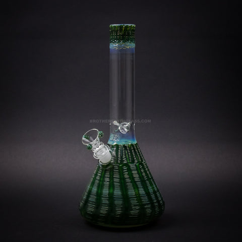 HVY Glass Color Raked Beaker Bong - Green