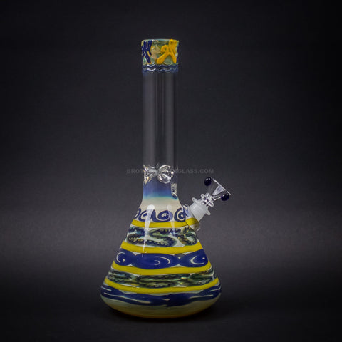 HVY Glass Color Coiled Beaker Bong - Yellow