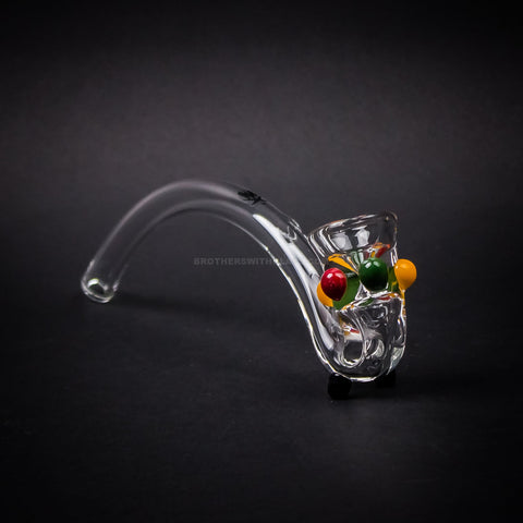 Mathematix Glass 8 In Gandalf Hand Pipe With Rasta Dots