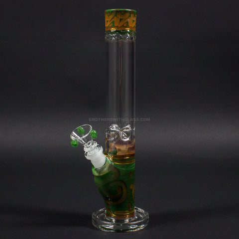 HVY Glass Straight Colored Coil Bong - Forest Green