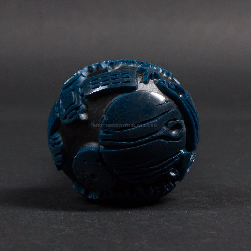 Liberty 503 Frit Sandblasted Black And Blue Hand Pipe - Outer Space