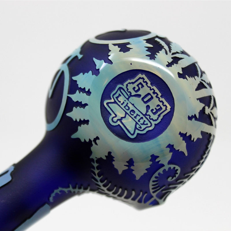 Liberty 503 Fumed Sandblasted Hand Pipe - Portland