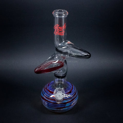 Glowfly Glass Zong Neck Bubble Bottom Bong