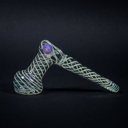 Mathematix Glass Slyme Spiraled Hammer Bubbler