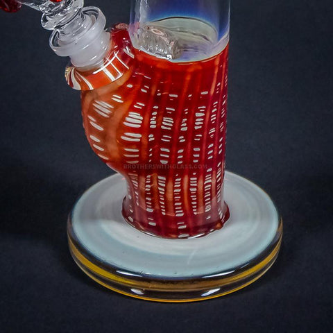 HVY Glass Color Raked Bent Neck Bong - Red