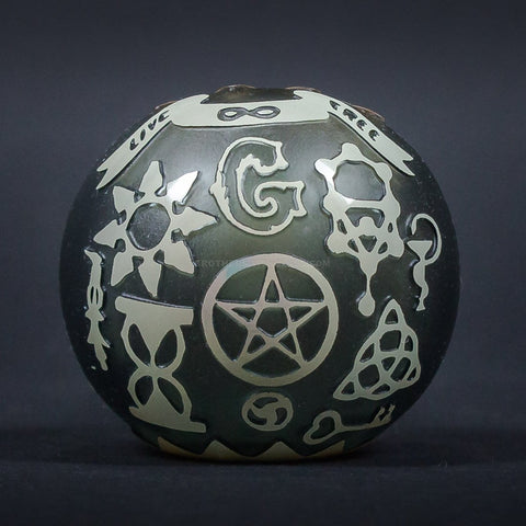 Liberty 503 Fumed Sandblasted Hand Pipe - Illuminati