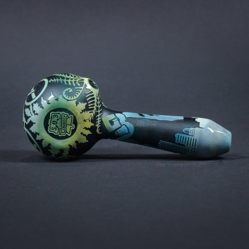 Liberty 503 Fumed Sandblasted Hand Pipe - Brothers With Glass