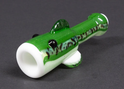 603 Glass Fish Whistle Chillum Hand Pipe