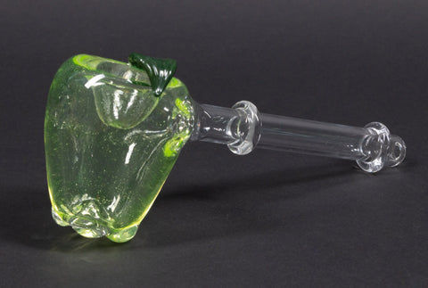 Mad Hatters Glass Apple Hand Pipe