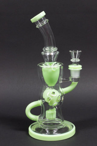 No Label Glass FTK Recycler Dab Rig