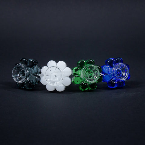 18mm Flower Glass on Glass Slide