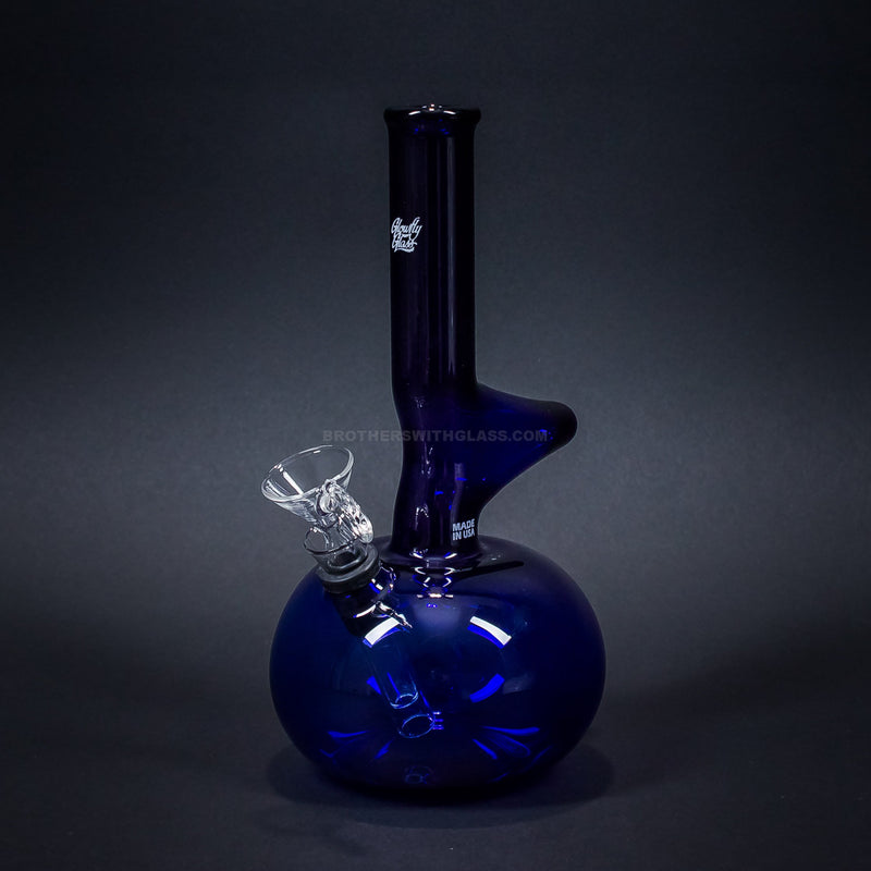 Glowfly Glass Colored Warped Neck Round Bottom Bong