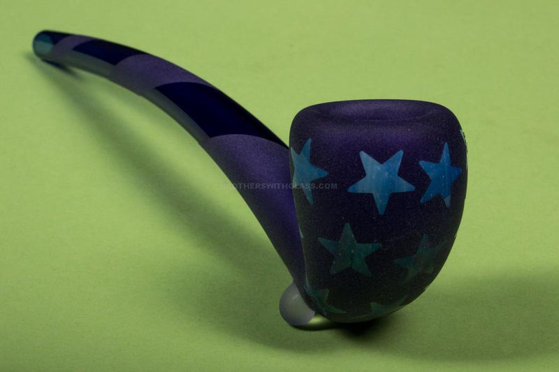 Starfish Designs 7 Inch Stars and Stripes Sandblasted Gandalf Hand Pipe