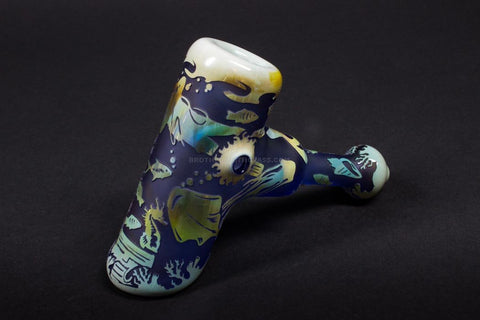 Liberty 503 Fumed Sandblasted Hammer Hand Pipe - Sea Life