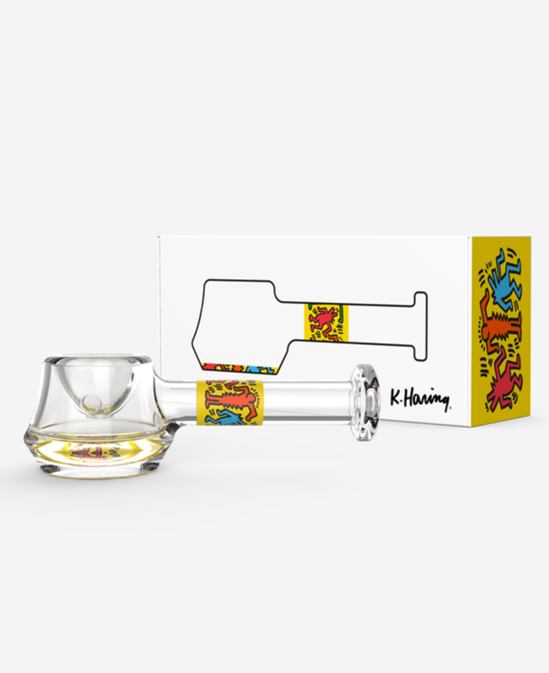 K. Haring Glass Spoon Hand Pipe
