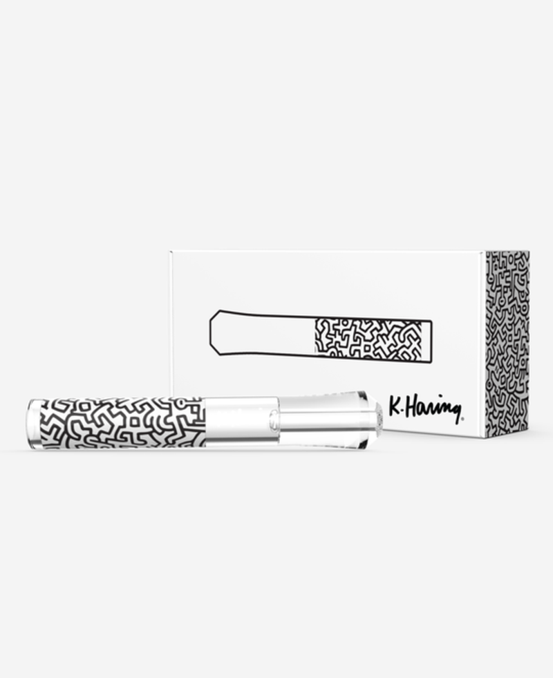 K. Haring Glass Chillum Hand Pipe
