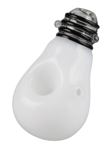 No Label Glass Light Bulb Hand Pipe