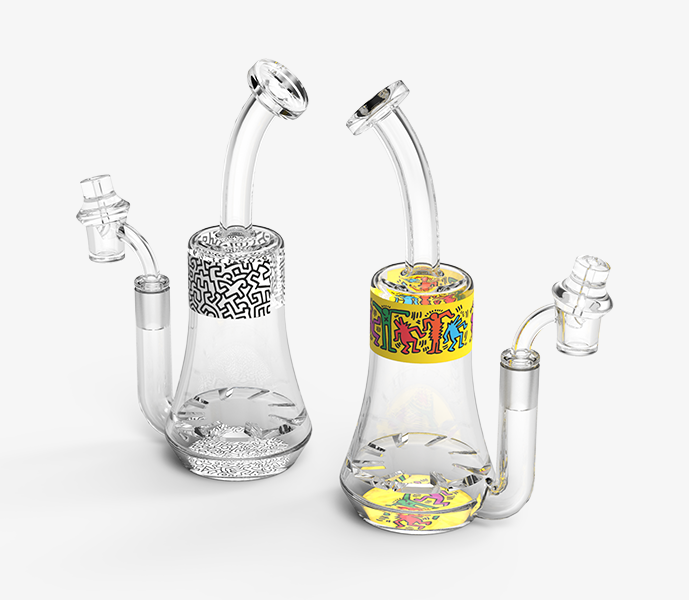 K. Haring Glass Turbine Dab Rig