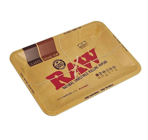 Raw Aluminum High Sided Rolling Tray Mini