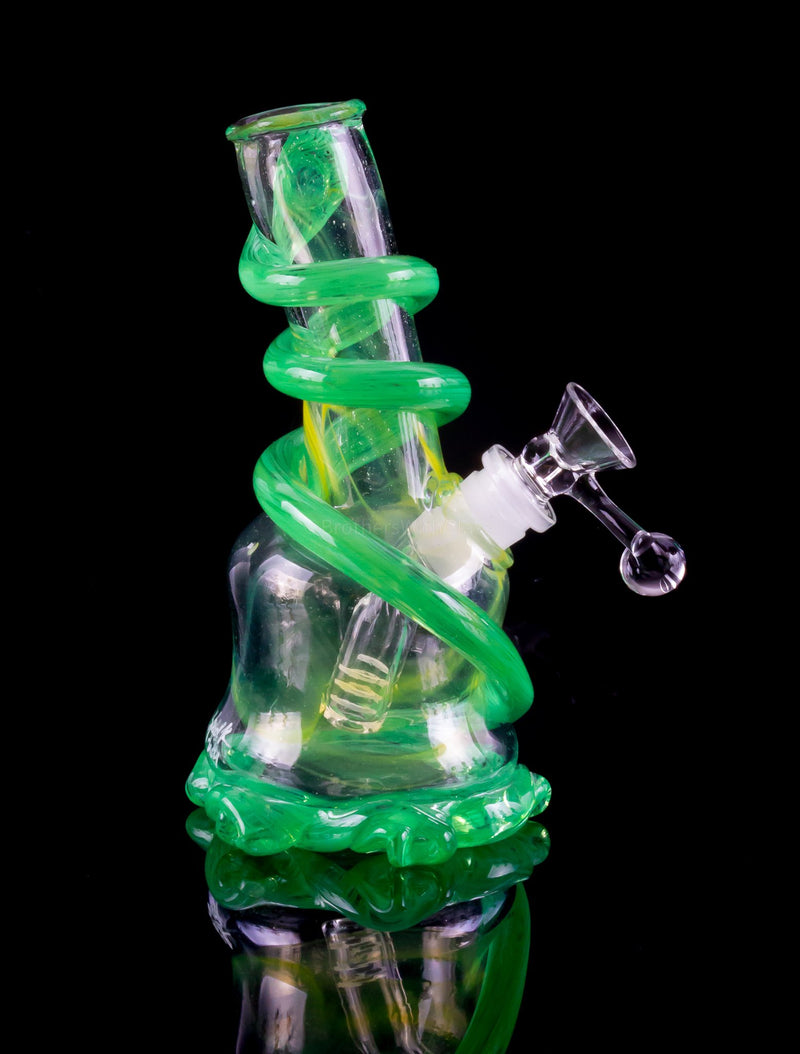 Special K Soft Glass Spiral Bell Dab Rig - Green