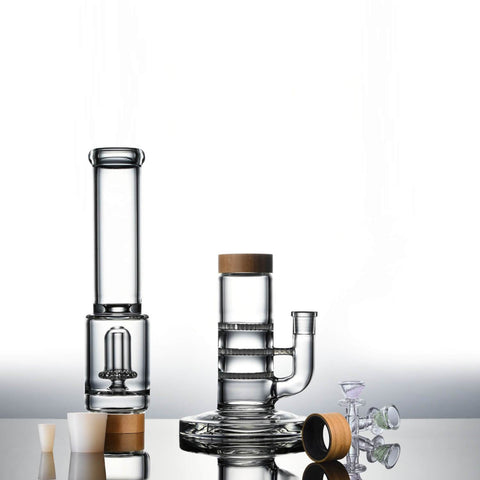 Vitae Glass Triple Honeycomb To UFO Bong - Tri-UFO
