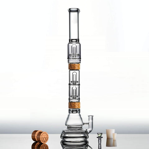 Vitae Glass Inline to UFO Bong - The Voyager to Dual UFO Perc