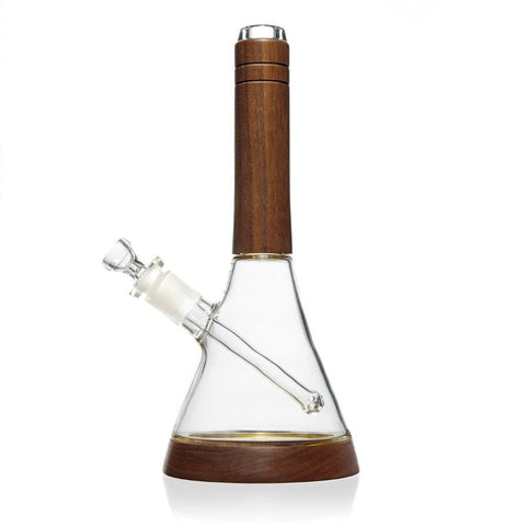 Marley Natural Glass Beaker Bottom Black Walnut Water Pipe